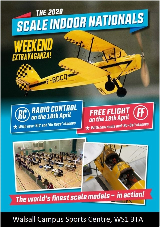 2020 Scale Indoor Free Flight British National Championships @ University of Wolverhampton Sports Centre | England | United Kingdom
